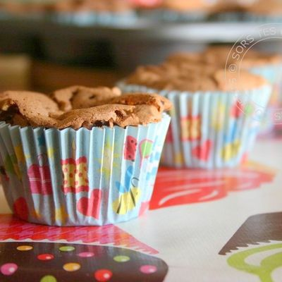 Cupcakes choco-noisettes made by Camille et Ninon