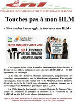 """Touches pas à mon HLM """"si tu touches à l'agglo, tu touches à mon HLM"""""""