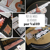 KIT202002 : KIT ALBUM FEVRIER 2020 PAR VAL49 fee du scrap