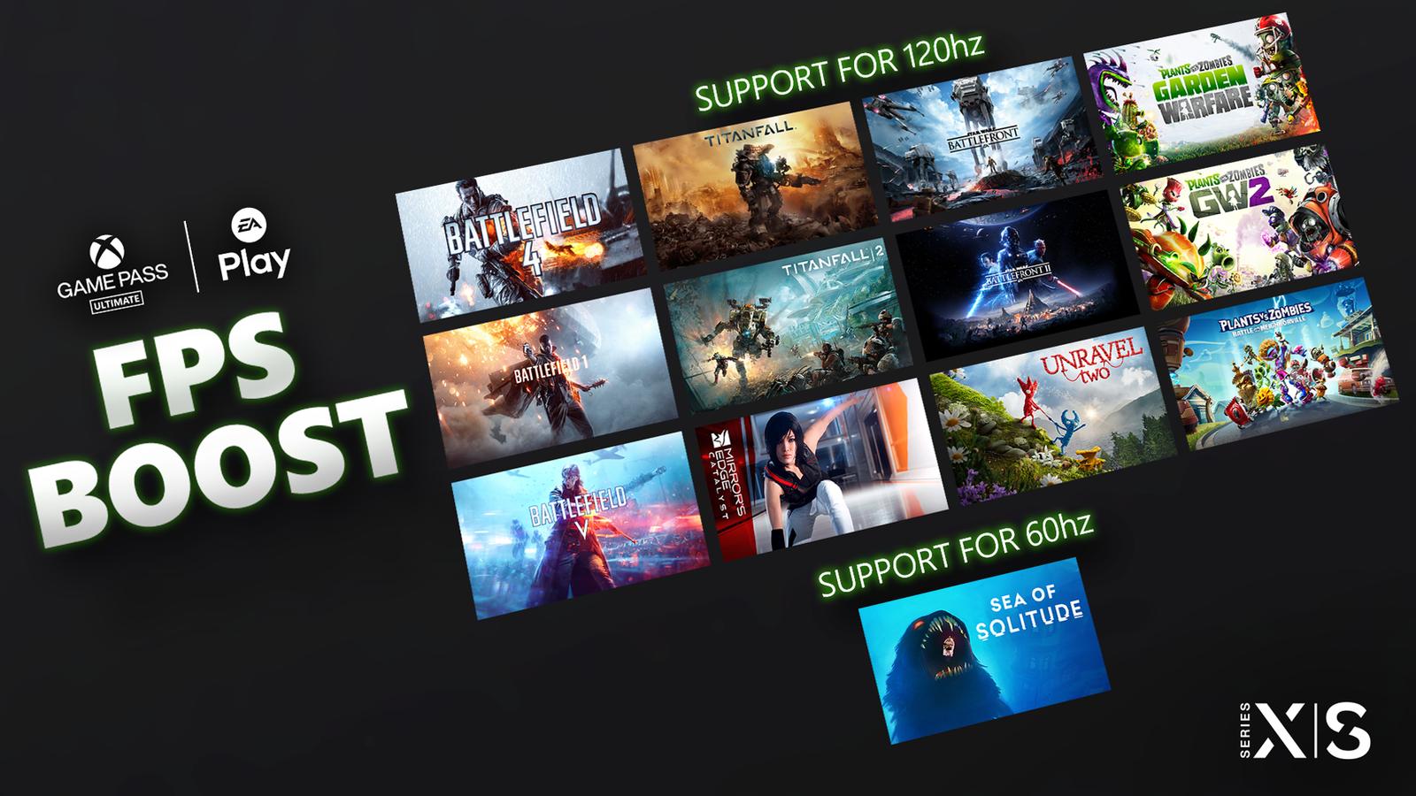 [ACTUALITE] Xbox Series X S - 13 jeux EA bénéficient du FPS Boost