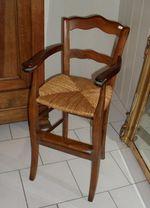 Chaise haute d'enfant ancienne paillée à vendre