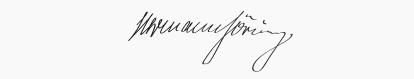 signature Herman Goring
