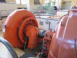 Une des turbines horizontales / groupe de production Ance du Sud