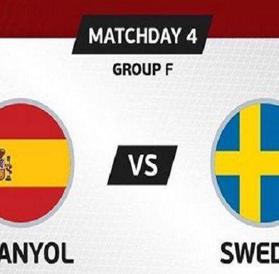 Hasil Pertandingan Spanyol Vs Swedia