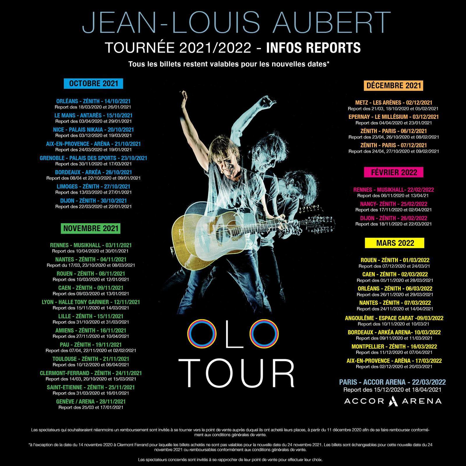 """La tournée """"Olo tour"""" reportée en 2021 et 2022 + les dates des festivals d'été 2021 !"""