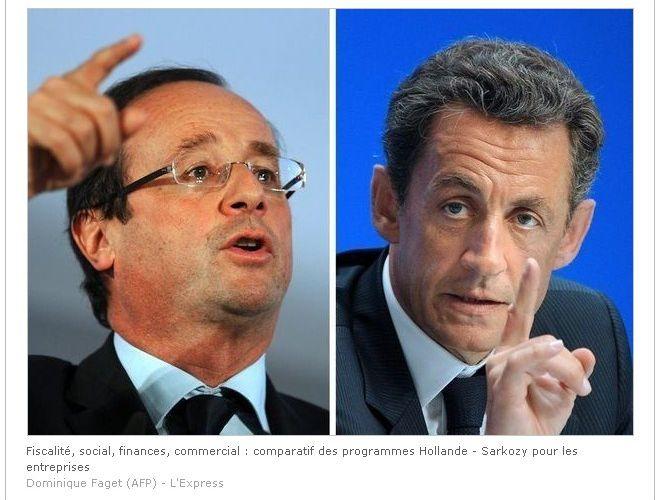 Programme PME-TPE: le match François Hollande-Nicolas Sarkozy