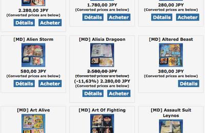 [AKIBA-GAMES] Les jeux MegaDrive JAP à prix explosé