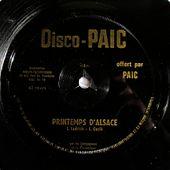 Disco-Paic- Les compagnons de la discothèque - Printemps d'Alsace - l'oreille cassée
