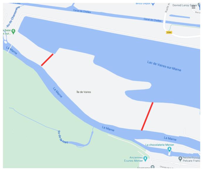 Lac de Chelles Vaires : débordement imprévu de la Marne