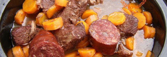 Filet de porc, Saucisse de Morteau, Carottes (Plat convivial)