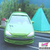 PEUGEOT 206 PEINTURE VERTE 1/60 WELLY - car-collector.net