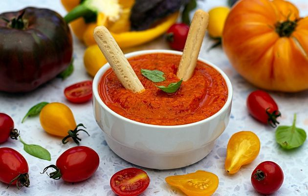 Dip poivron et tomate