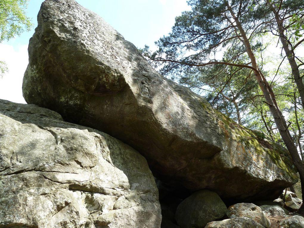 """Nous finirons par grimper sur quelques rochers du site d'escalade du """"Rocher Canon""""."""