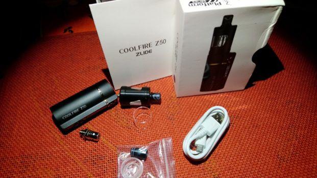 Test - Box - Clearomiseur - Kit box Coolfire Z50 et clearomiseur Zlide D24 de chez Innokin