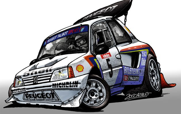 Peugeot 205T16 Cartoon