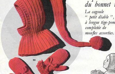 Ensemble bonnet vénitien et gants 2 à 6 ans