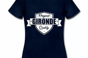 T Shirt Aquitaine bleu m femme Gironde Original Quality