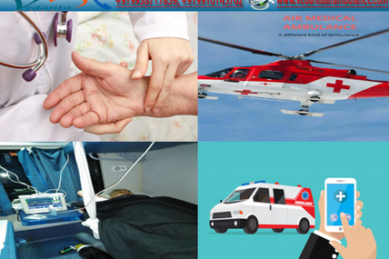 Emergency Medical Transport Service Equipped with Latest Technology Available Anytime by Vedanta Air Ambulance Lucknow
