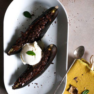 Bananes grillées au chocolat