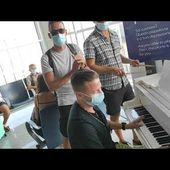 Back on tour! A piano at the Catania Airport (Italy) - Matthew Lee