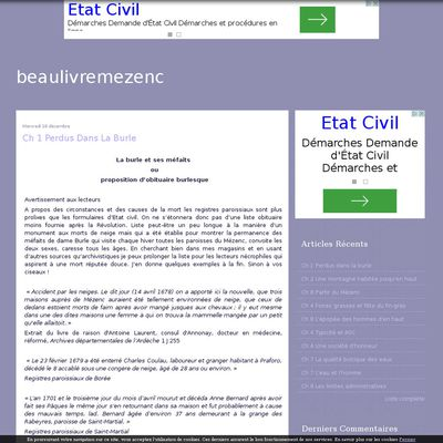 Le blog de beaulivremezenc