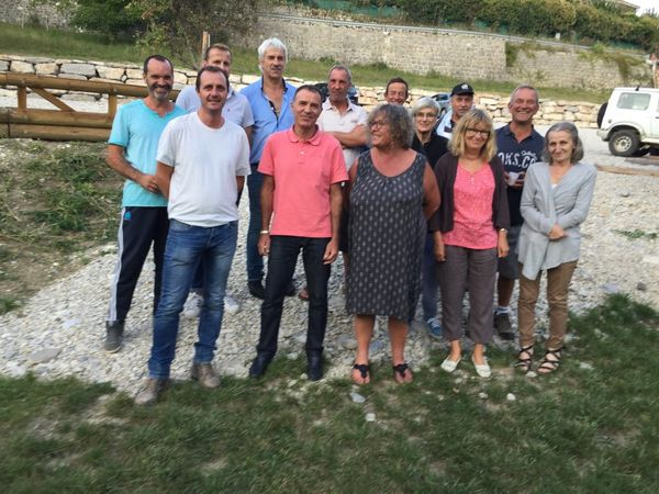 St Julien du Verdon  : le parking du touron inauguré