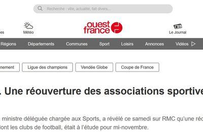 Réouverture des Associations sportives mi-novembre ?