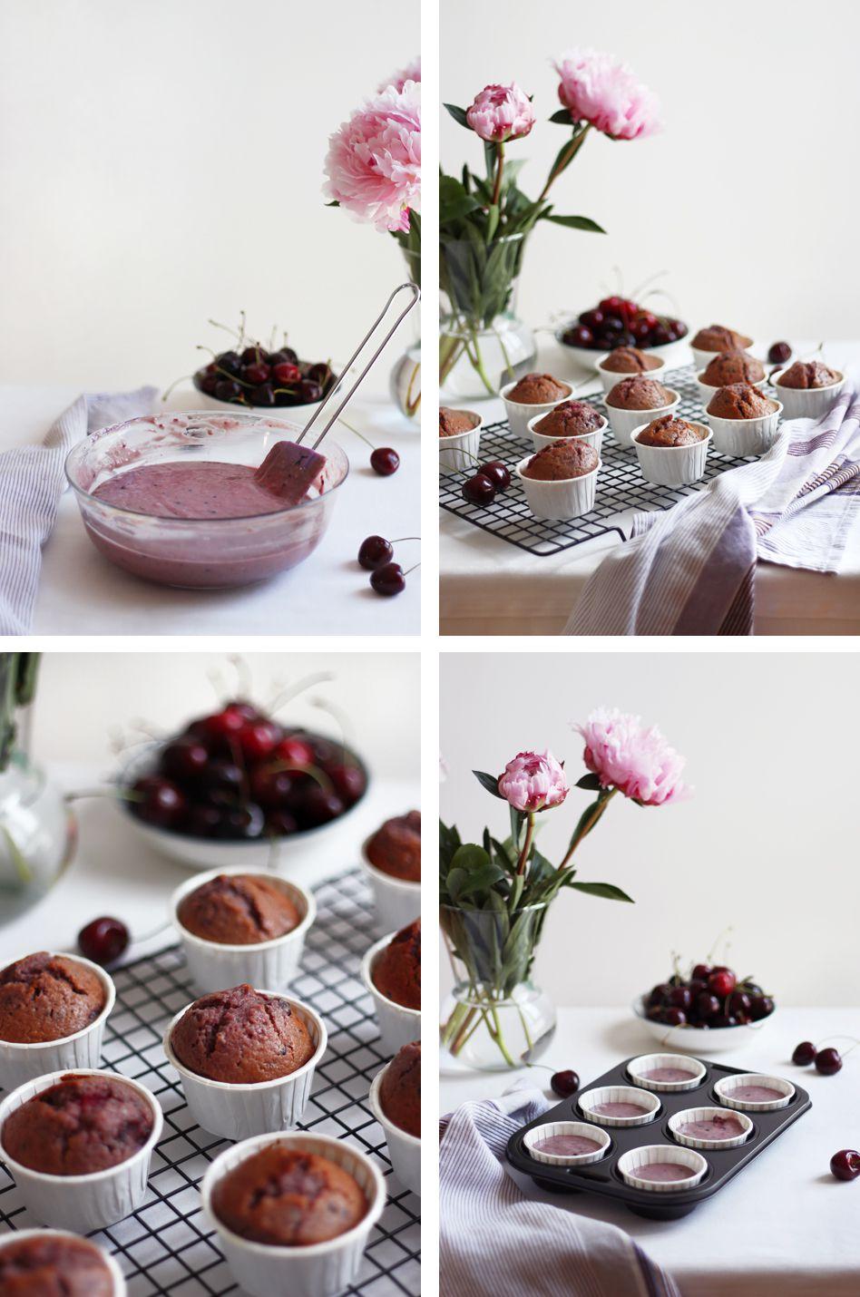 Parfum des beaux jours avec mes cupcakes aux cerises