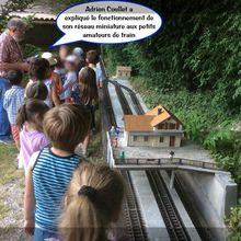 Saint André les Alpes: Les petits enfants aiment les petits trains