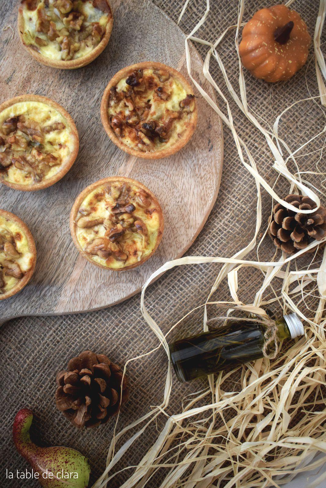 Tartelettes poireaux noix et mughetto
