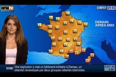 [2012 10 11] FANNY AGOSTINI - BFM TV - LA METEO @21H15