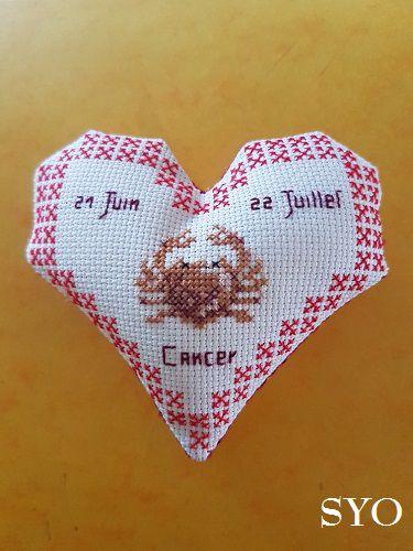 Cœur Valentin Zodiaque: le Cancer face A