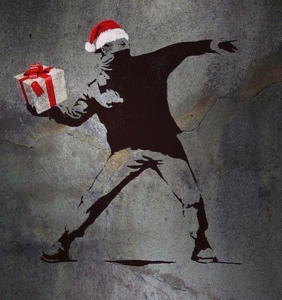 Noël dans la rue: le street art