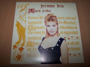 """hermine Brač, une chanteuse française des années 1980 pour une chanson assez originale """"marie st Eloi"""" servie par des arrangements de qualité"""