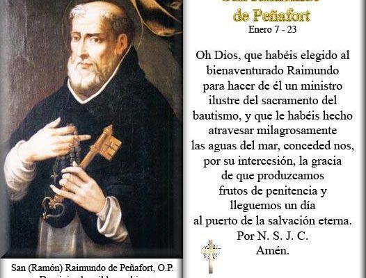 7 Gennaio : San Raimondo di Penafort - Preghiere e vita del Santo