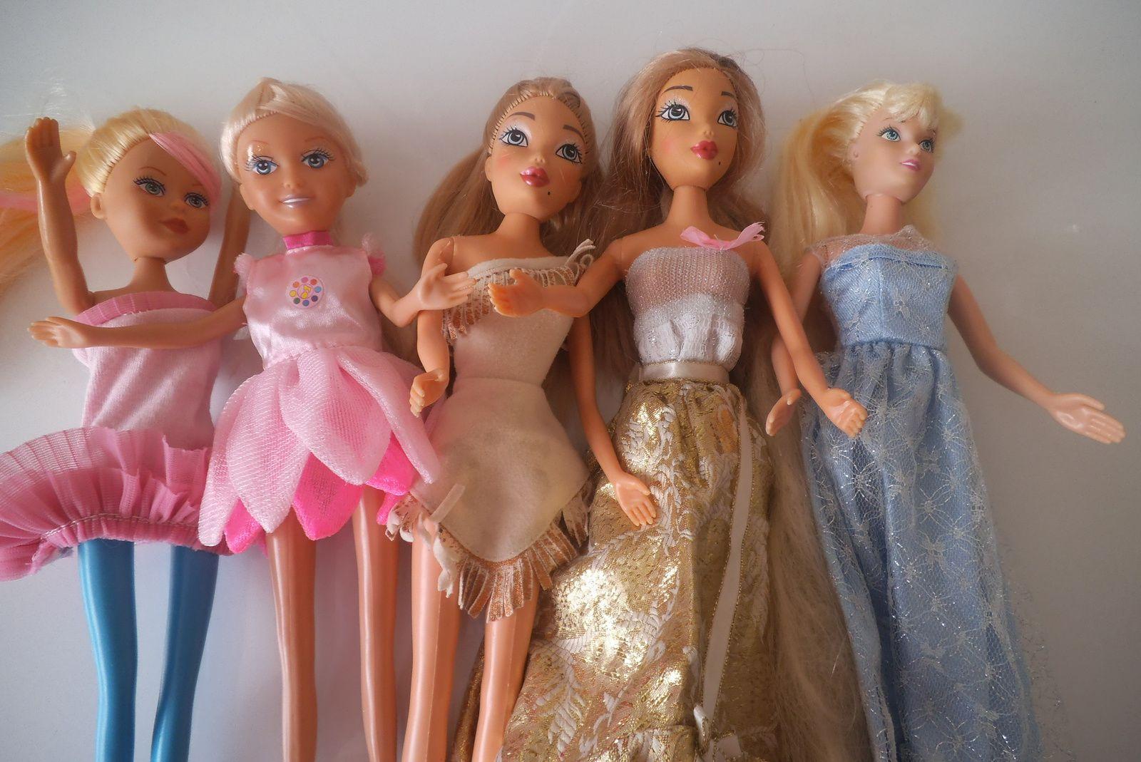 début de relooking pour les poupées de Dany