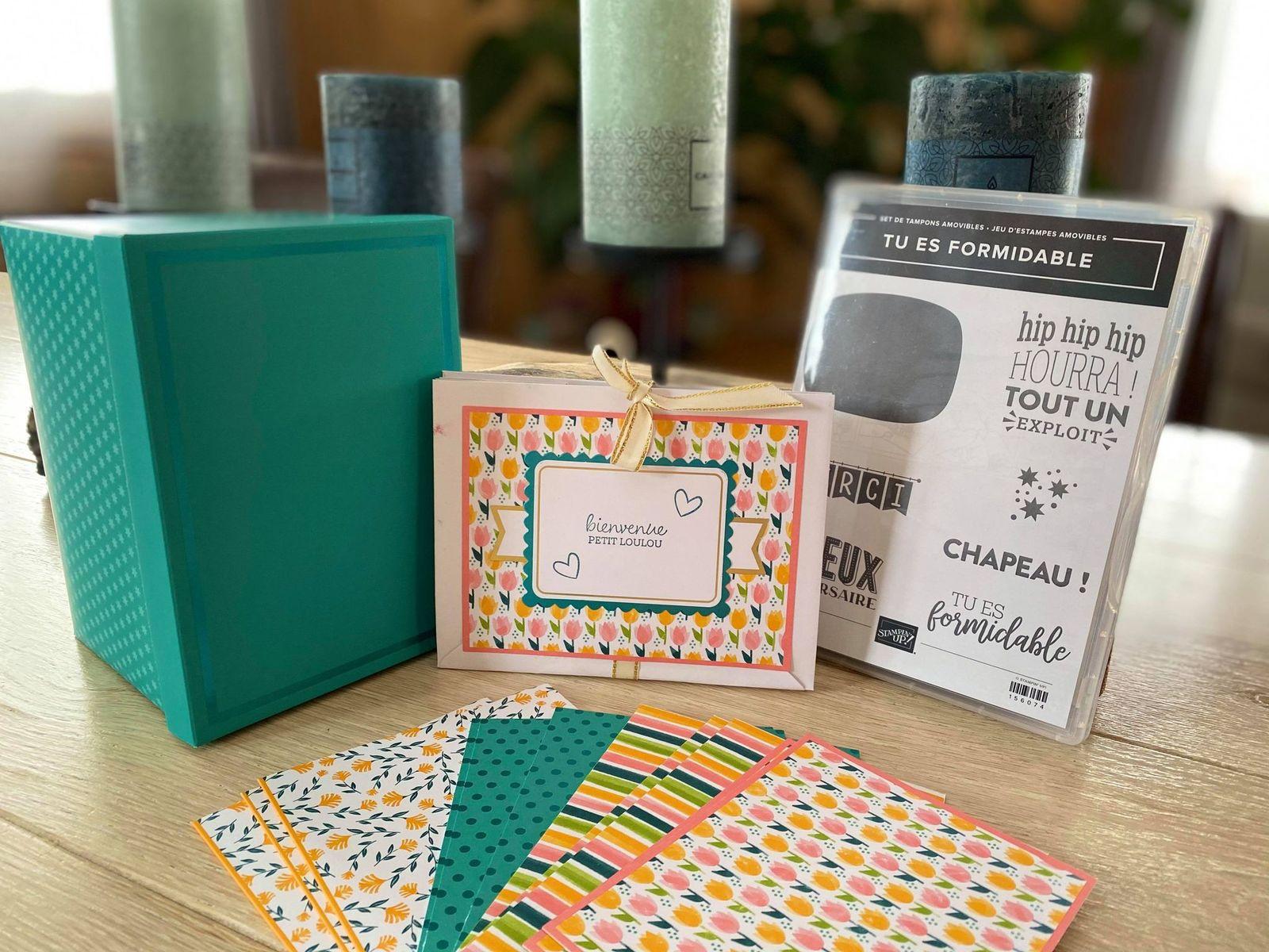 "Kit de carte ""Tu es formidable "" transformer en mini album"