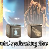 4 elemental magic dice for your RPGs