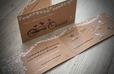 Le faire part de mariage e Maxime & Cyril ... thème Provence à vélo