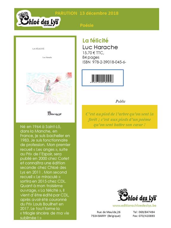 Fiches auteurs... De nouveaux titres aux Editions Chloé des Lys !