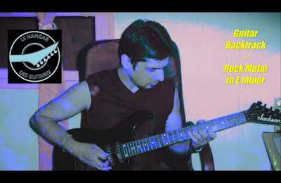 Guitar Backtrack Rock metal in E minor