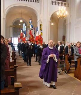 17 et 18 mars 2012 à Neuf-Brisach-50ème anniversaire du 9ème RG- Dévoilage plaque Porte de Bâle- messe en l'église royale St Louis de Neuf-Brisach