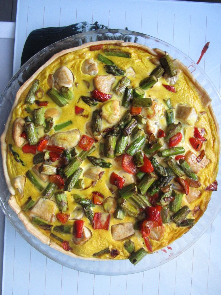Quiche asperge poulet et curry