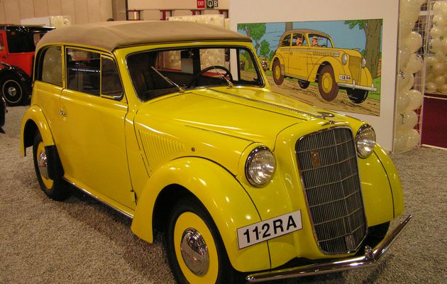 Tintin et les voitures: l'Opel Olympia