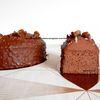 Cake aux marrons d'après Christophe Michalak : imbibé au whisky, ganache onctueuse chocolat au lait-marron-whisky, glaçage rocher