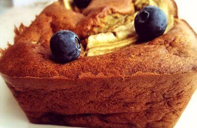 Bananabread aux myrtilles