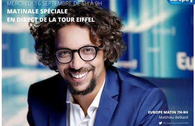 Matthieu Belliard s'installe demain depuis la tour Eiffel pour une matinale spéciale consacrée à la relance du pays et à ses enjeux sur Europe 1