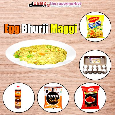 How to make Egg Bhurji Maggi ?