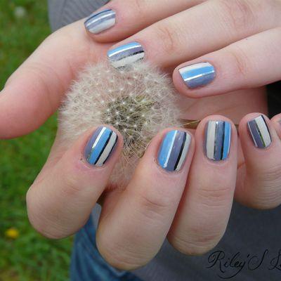 Nail art Rayures