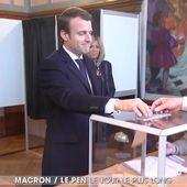 Vote dans leur fief, retour à Paris, attente : la journée des deux candidats